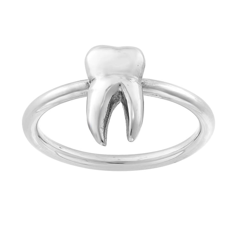 Sterling silver tooth teeth ring gothic unusual alternative ring rings