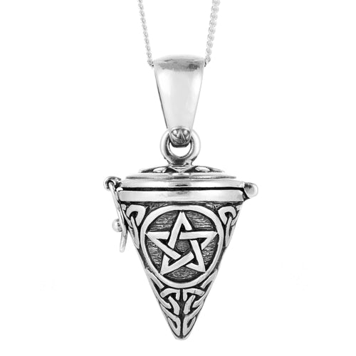 Sterling silver pentagram locket witchy wicca wiccan jewellery jewelry