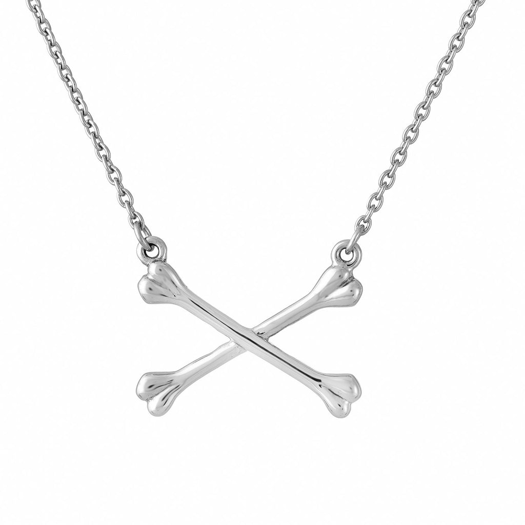 CROSSBONES - STERLING SILVER NECKLACE