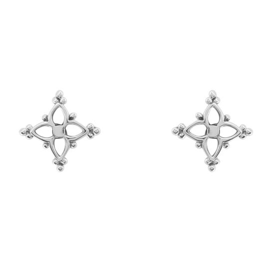 MOROCCAN STAR - STERLING SILVER STUDS