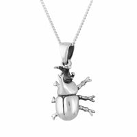 RHINO BEETLE ~ STERLING SILVER NECKLACE