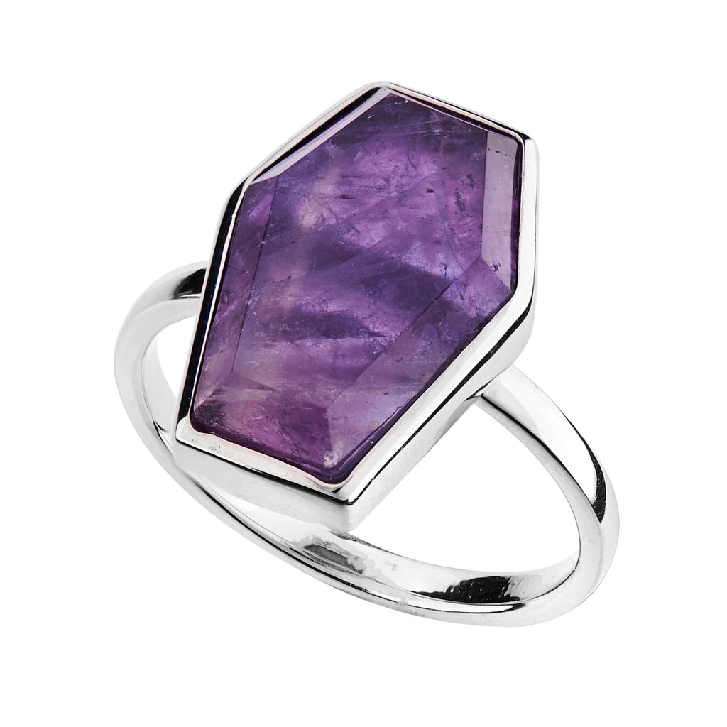 TILL DEATH - AMETHYST & STERLING SILVER RING