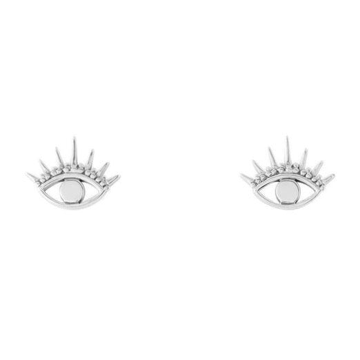 Sterling silver boho eye bohemian stud earrings alternative jewellery Jewelry
