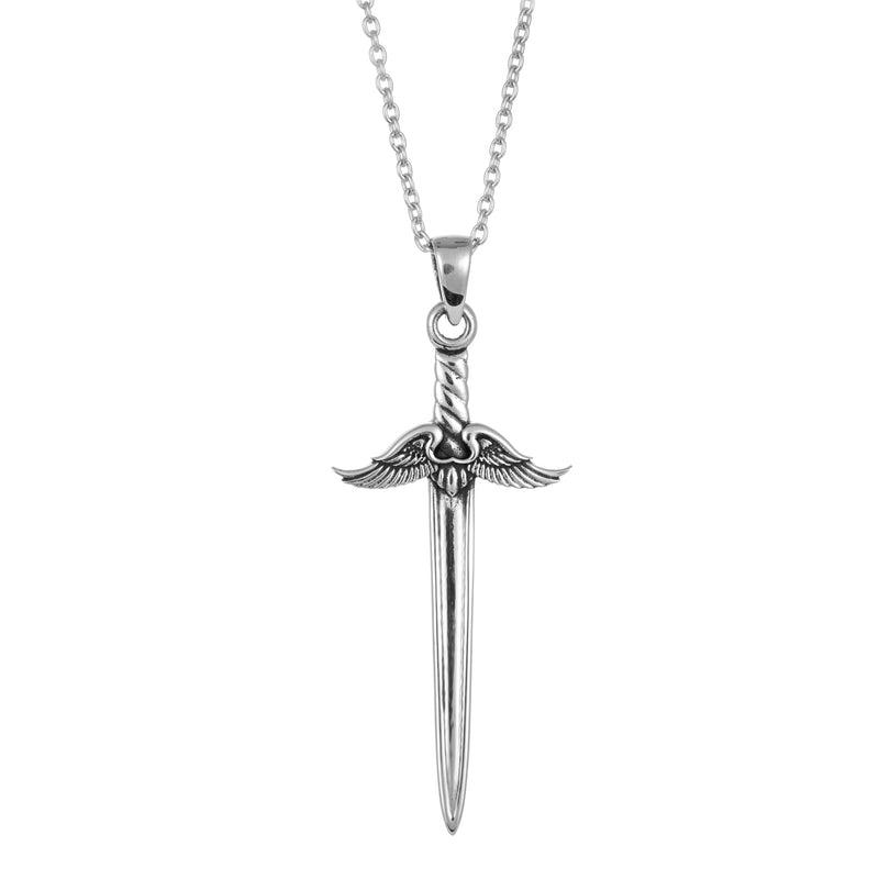 Sterling silver dagger sword necklace gothic witchy boho jewellery jewelry