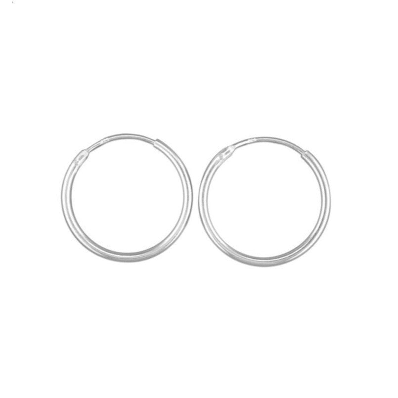 STERLING SILVER HINGED HOOPS