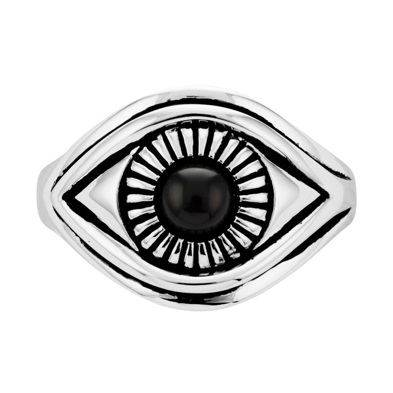 JEEPERS - STERLING SILVER & ONYX RING