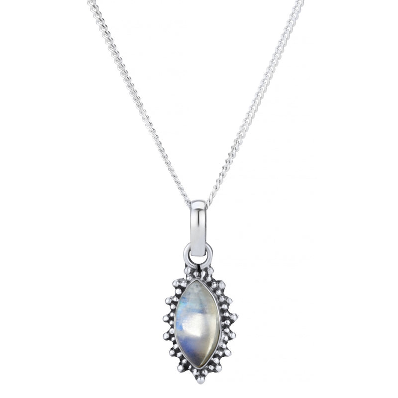 Sterling silver moonstone boho bohemian necklace jewellery