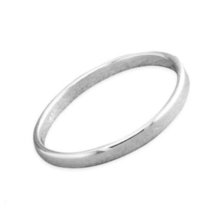 Sterling silver simple plain stacking ring gothic jewellery jewelry alterntauve
