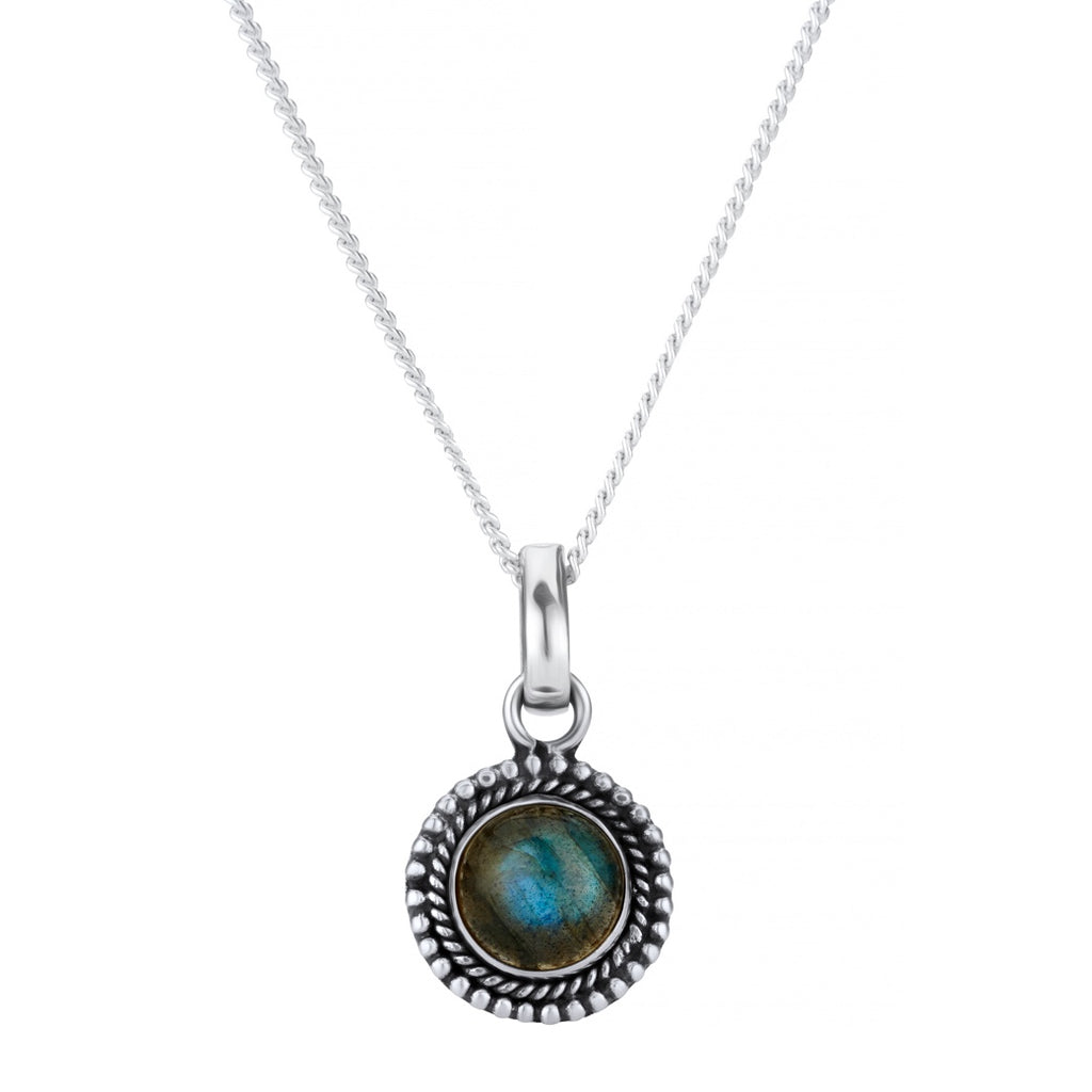 BLUE MOON - STERLING SILVER & LABRADORITE NECKLACE