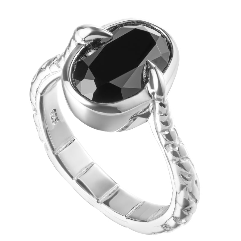 ARTEMIS - ONYX & STERLING SILVER RING