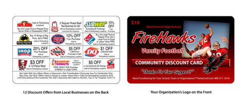 Sports Fundraising Coupon Card Example