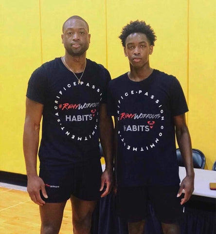 Dwayne Wade Wears Habits 365 Apparel - A Brand Started By A High School Student
