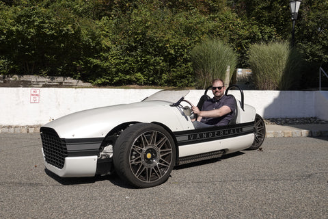 Jason Driving the Vanderhall