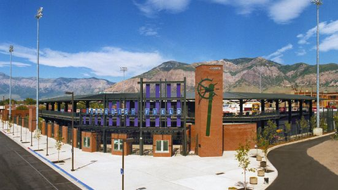 Lindquist Field - Home of the Ogden Raptors (Front Gate)