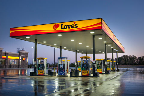 Love's Gas Station - Colors Are Similar to New Atlanta Hawks Uniforms