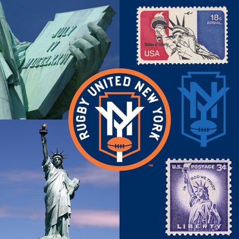 Statue of Liberty Symbol on Rugby United New York's Logo