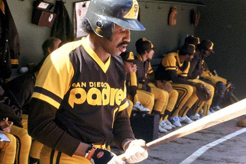 Old San Diego Padre Brown and Yellow Uniforms