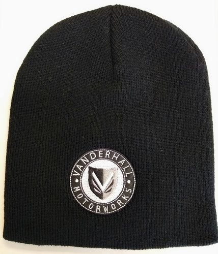 Vanderhall Black Beanie with Shield Logo