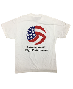 Intermountain High Performance White T-Shirt Back (Intermountain Volleyball Association)