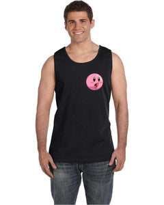 BlakeTheMOON Pocket-Sized Kirby Face (POG) Black Tank Top