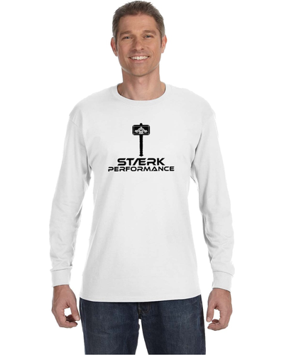 Staerk Performance White Hammer Long-Sleeve Tee
