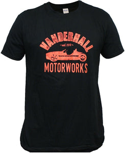 Vanderhall Black with Heather Red Motor Works Logo Short Sleeve Shirt