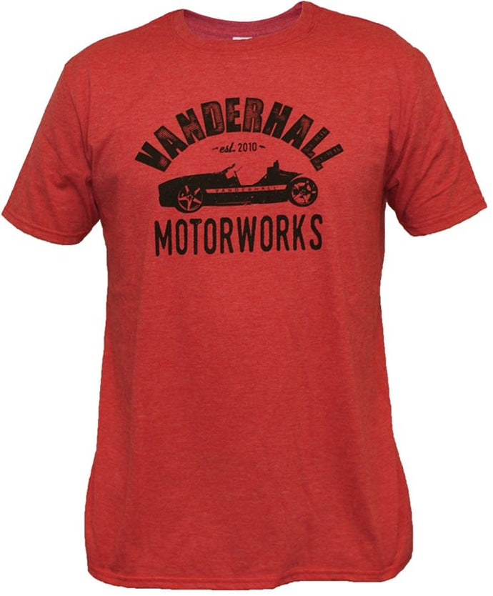 Vanderhall Heather Red with Black Motor Works Logo Short Sleeve Shirt