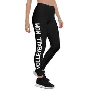 Volleyball Mom Black Leggings