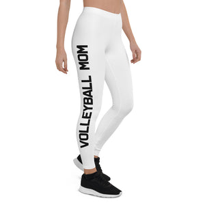 Volleyball Mom White Leggings