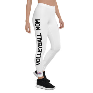 Intermountain Volleyball Mom White Leggings
