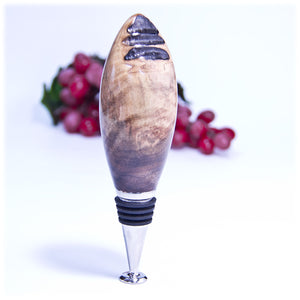 Gallery Natural Edge Walnut Bottle Stopper