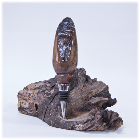 Gallery Natural Edge English Walnut Burl Bottle Stopper
