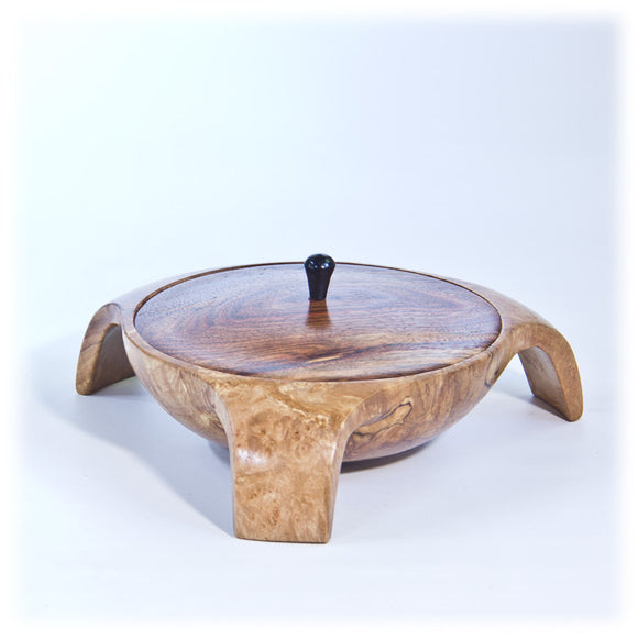 3-Legged Maple Burl Bowl - 2044