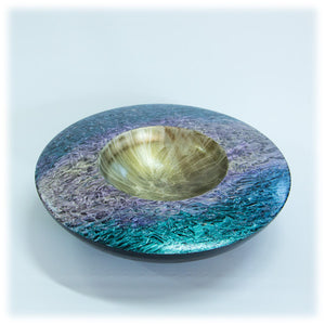 Iridescent Painted Ash Bowl - 1807