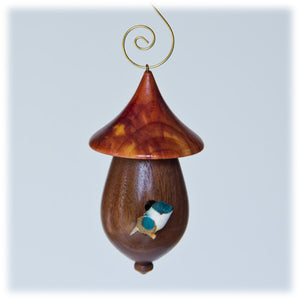 Mini Walnut Bird House - 1801
