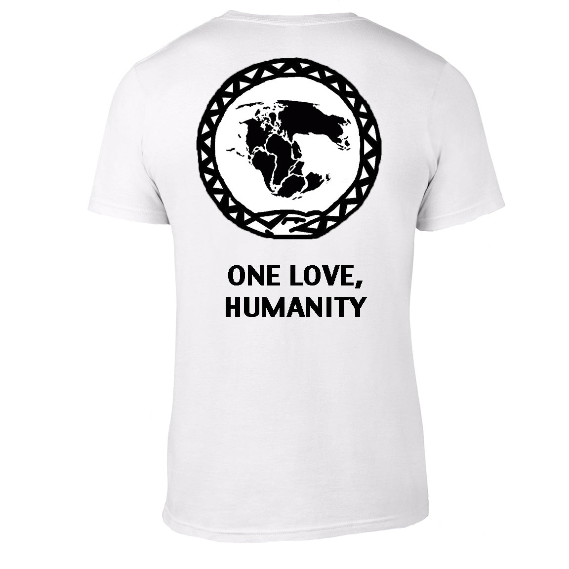 One Love Humanity Love Society Raised Me Symbol Available In Black