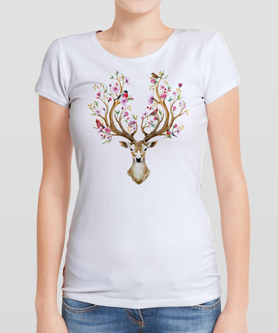 Deer with Flower Antlers