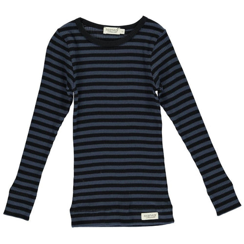 Modal blusa, Black/Blue Stripe