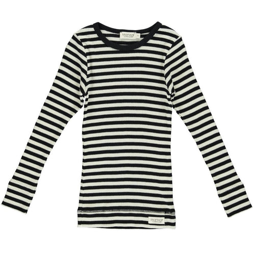 Modal blusa, Black/Off White Stripe