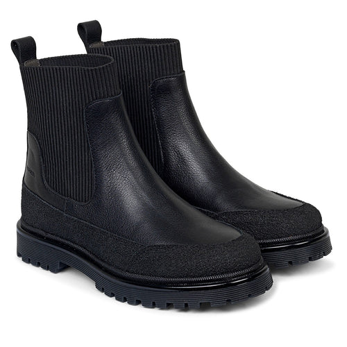 Chelsea Rubber Boot w/track sole, Black