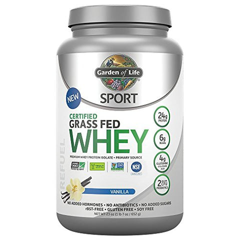 Garden of Life Sport Certified Grass Fed Clean Whey Protein