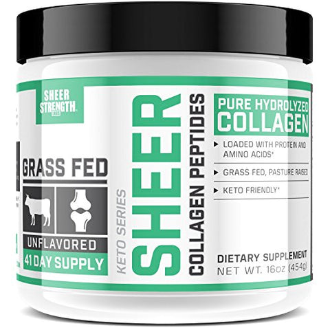 Sheer Strength Labs Pure Hydrolyzed Collagen Peptides Powder