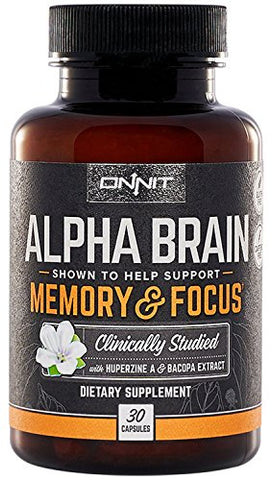Onnit Alpha Brain: Clinically Studied Nootropic