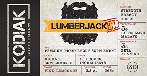 Kodiak Supplement LUMBERJACKED Pre-Workout Supplement