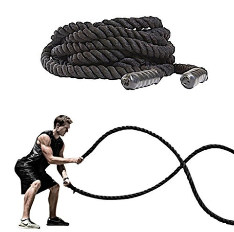 FireBreather Training Battling Rope with Protective Sleeve and Handles