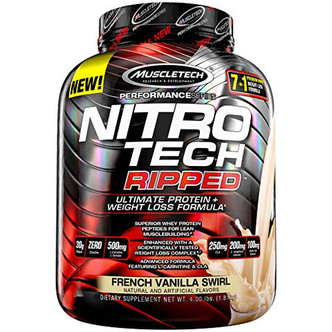 MuscleTech Nitro Tech Ripped Whey Protein Isolate