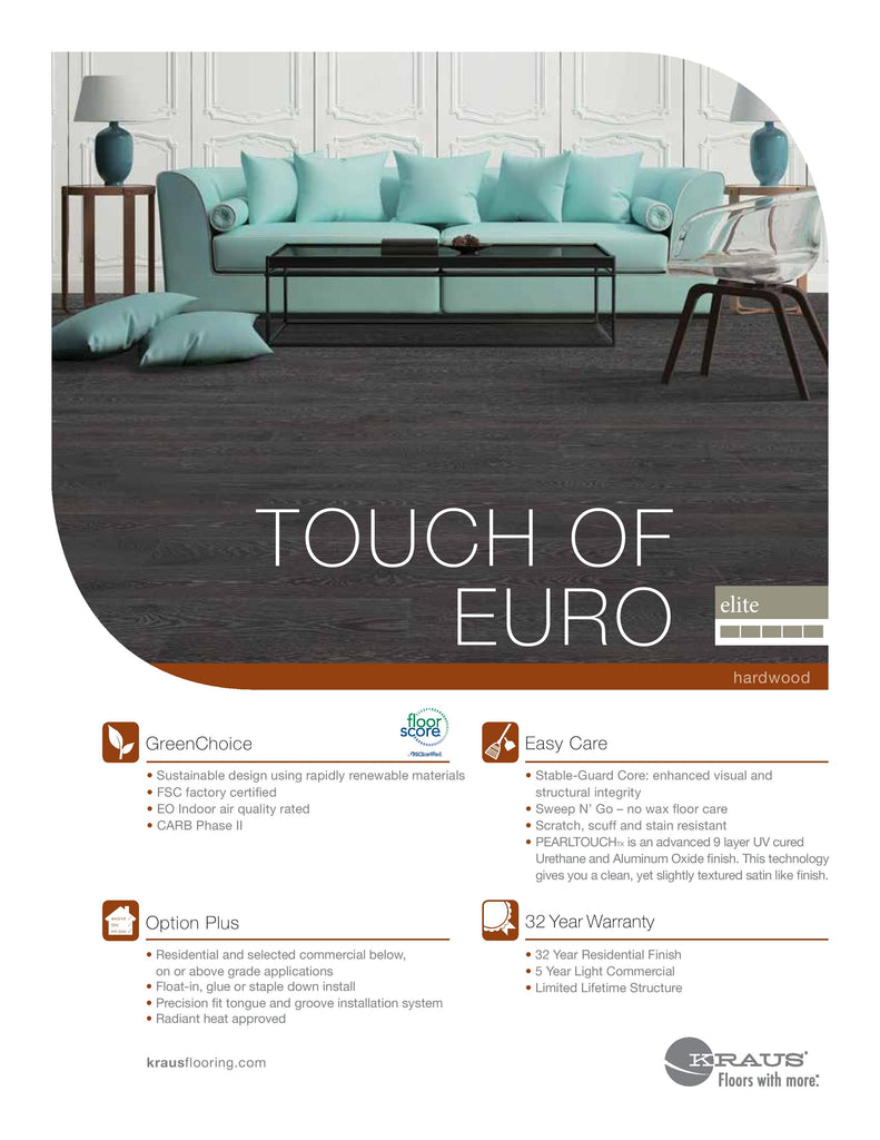 KRAUS TOUCH OF EURO COLLECTION ENGINEERED HARDWOOD