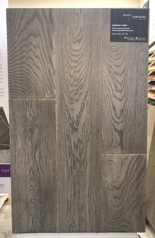 BRANDING SURFACE ENGINEERED HARDWOOD 6 1/2' ASPHALT GREY