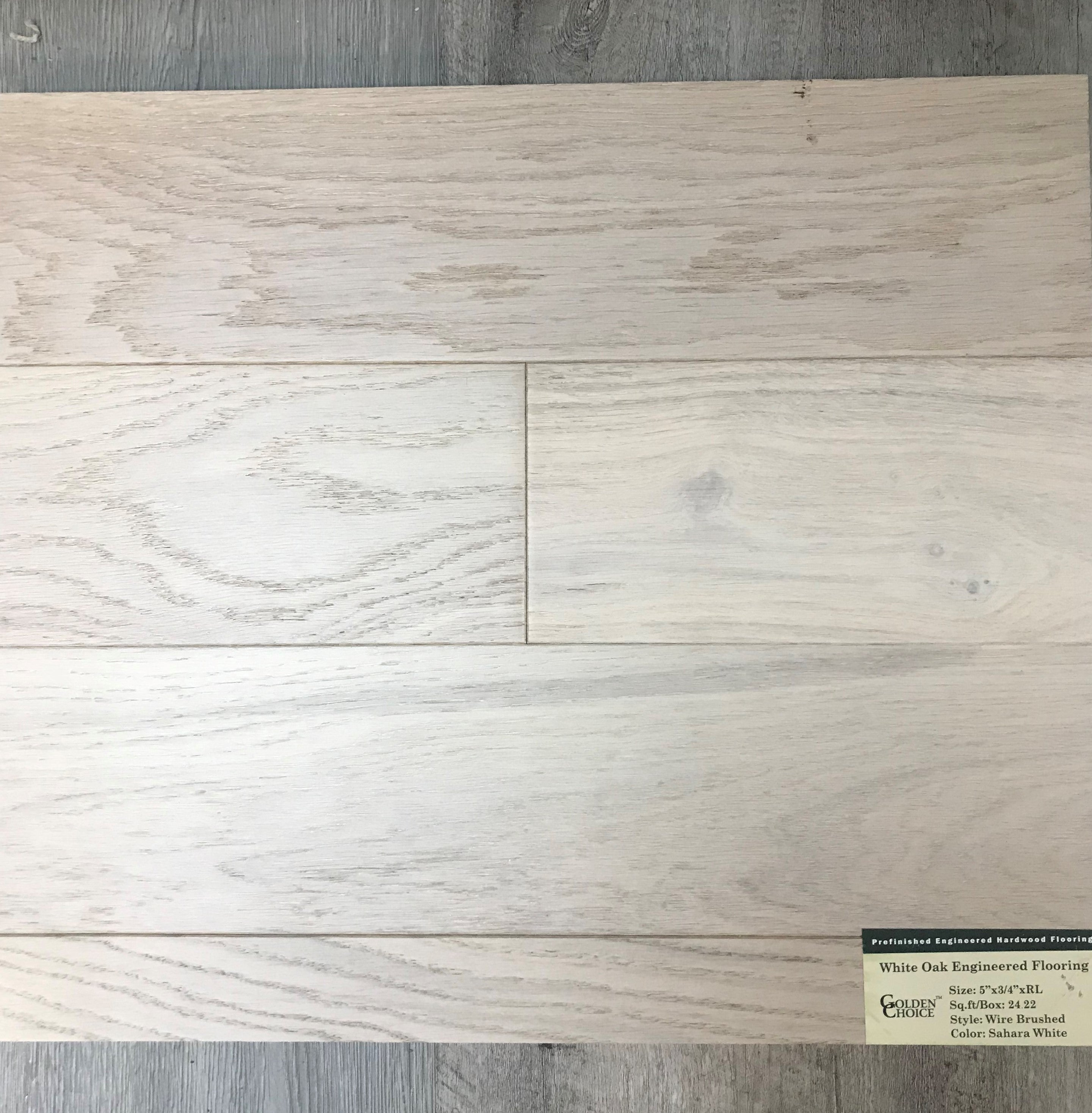 5 X 34 Engineered Wire Brushed White Oak Anderson Carpet Flooring