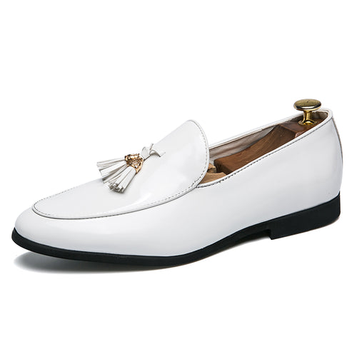 Glossy Tassel Loafers